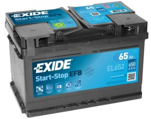 EXIDE Start-Stop EFB EL652 (65R) 650А обратная полярность 65 Ач (278x175x175)