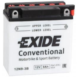 Аккумулятор для мототехники EXIDE 12N9-4B-1 85А прямая полярность 9 Ач (135x75x139) фото
