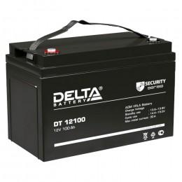 Delta DT 12100 универсальная полярность 100 Ач (329x174x215)