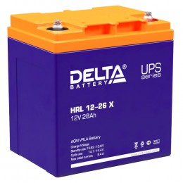 Delta HRL 12-26 X 310А универсальная полярность 28 Ач (165x125x175)