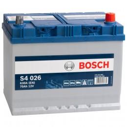 Автомобильный аккумулятор BOSCH S4 026 (70R) 630А обратная полярность 70 Ач (261x175x220) фото