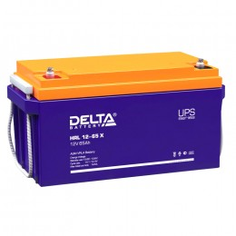 Delta HRL 12-65 X 680А универсальная полярность 65 Ач (350x167x179)