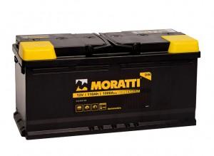 Moratti 110R  1000А обратная полярность 110 Ач (393x175x190)