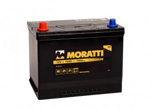 Moratti Asia 75R  700А обратная полярность 75 Ач (260x173x225)