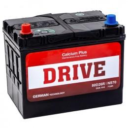 Drive 80D26L (70R) 580А обратная полярность 70 Ач (260x175x220)