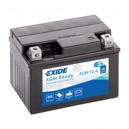 Аккумулятор для мототехники EXIDE AGM 12-4 50А обратная полярность 3 Ач (113x70x85) фото
