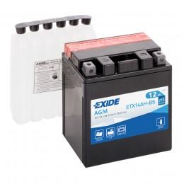 Аккумулятор для мототехники EXIDE ETX14AH-BS 210А прямая полярность 12 Ач (134x89x164) фото