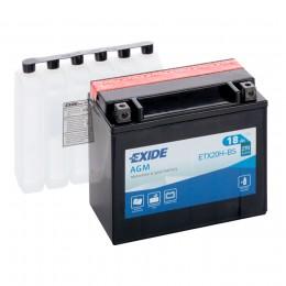 Аккумулятор для мототехники EXIDE ETX20H-BS 270А прямая полярность 18 Ач (175x87x155) фото