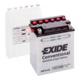 Аккумулятор для мототехники EXIDE EB14-A2 145А прямая полярность 14 Ач (134x90x166) фото