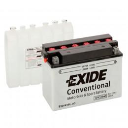 Аккумулятор для мототехники EXIDE E50-N18L-A3 260А обратная полярность 20 Ач (205x90x164) фото