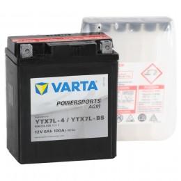 Аккумулятор для мототехники VARTA Powersports AGM YTX7L-BS 100А обратная полярность 6 Ач (114x71x131) фото