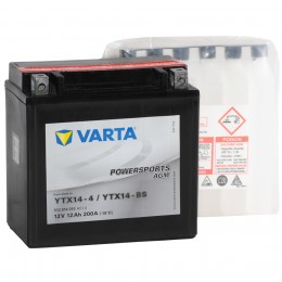 Аккумулятор для мототехники VARTA Powersports AGM YTX14-BS 200А прямая полярность 12 Ач (152x88x147) фото