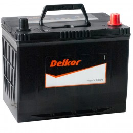 Автомобильный аккумулятор DELKOR 80R (90D26L) 680А обратная полярность 80 Ач (260x173x225) фото