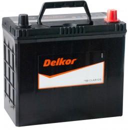 Автомобильный аккумулятор DELKOR 45R (60B24LS) 430А обратная полярность 45 Ач (238x129x227) фото