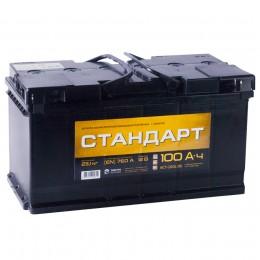 Автомобильный аккумулятор СТАНДАРТ 100R 760А обратная полярность 100 Ач (353x175x190) фото