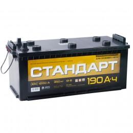 Автомобильный аккумулятор СТАНДАРТ 190 рус 1200А прямая полярность 190 Ач (513x223x223) фото