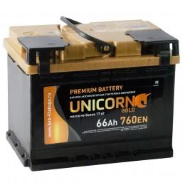 Автомобильный аккумулятор UNICORN GOLD 66R 760А обратная полярность 66 Ач (242x175x190) фото