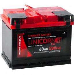 Автомобильный аккумулятор UNICORN RED 60R 580А обратная полярность 60 Ач (242x175x190) фото