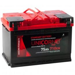 Автомобильный аккумулятор UNICORN RED 75R 710А обратная полярность 75 Ач (278x175x190) фото