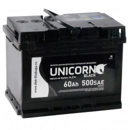 Автомобильный аккумулятор UNICORN BLACK 60L 500А прямая полярность 60 Ач (242x175x190) фото