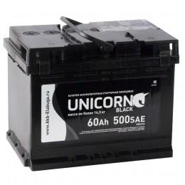 Автомобильный аккумулятор UNICORN BLACK 60R 500А обратная полярность 60 Ач (242x175x190) фото