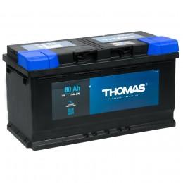 Автомобильный аккумулятор THOMAS 80RS 740А обратная полярность 80 Ач (315x175x175) фото