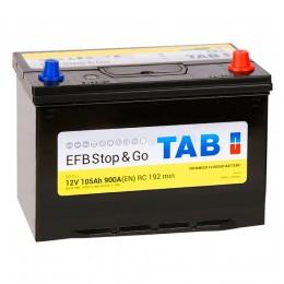 TAB EFB 105R 900А обратная полярность 105 Ач (303x173x225)