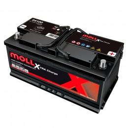 MOLL X-TRA Charge 100R 850А обратная полярность 100 Ач (353x175x190)