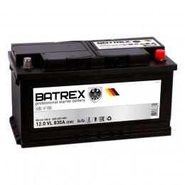 BATREX 100R  830А Обратная полярность 100 Ач (353x175x190)