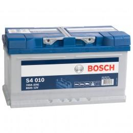 Автомобильный аккумулятор BOSCH S4 010 (80R) 740А обратная полярность 80 Ач (315x175x175) фото