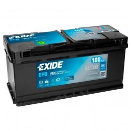EXIDE Start-Stop EFB EL1000 (100R) 900А Обратная полярность 105 Ач (353x175x190)