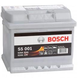 Автомобильный аккумулятор BOSCH S5 001 (52R) 520А обратная полярность 52 Ач (207x175x175) фото