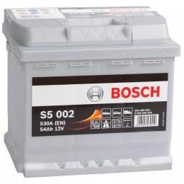 Автомобильный аккумулятор BOSCH S5 002 (54R) 530А обратная полярность 54 Ач (207x175x190) фото