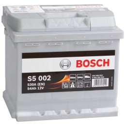 BOSCH S5 002 (54R) 530А обратная полярность 54 Ач (207x175x190)