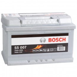 Автомобильный аккумулятор BOSCH S5 007 (74R) 750А обратная полярность 74 Ач (278x175x175) фото