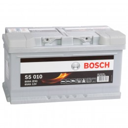 BOSCH S5 010 (85R) 800А обратная полярность 85 Ач (315x175x175)