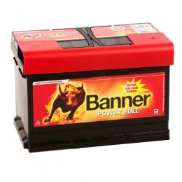 BANNER Power Bull 74R (74 12) 680А обратная полярность 74 Ач (278x175x190)