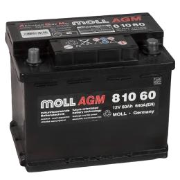 MOLL AGM Start-Stop  60R 640А обратная полярность 60 Ач (242x175x190)