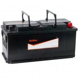 Автомобильный аккумулятор DELKOR 110R (61038) 850А обратная полярность 110 Ач (394x175x190) фото