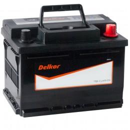 Автомобильный аккумулятор DELKOR 61R (56177) низкий 600А обратная полярность 61 Ач (242x175x175) фото