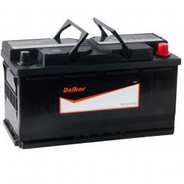 Автомобильный аккумулятор DELKOR 100R (60044) 800А обратная полярность 100 Ач (353x175x190) фото