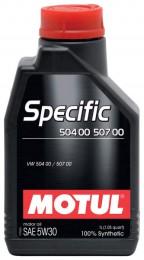 MOTUL Specific 504 00-507 00  VW  5w30 1л